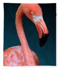Entirely Unimpressed Flamingo Fleece Blanket
