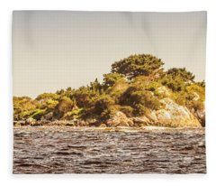 Entrance Island Lighthouse, Hells Gates Fleece Blanket