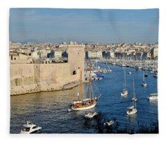 Entrance Of Marseille Fleece Blanket