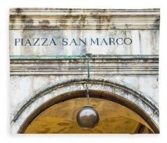 Entrance To Plazza San Marco In Venice Italy Fleece Blanket