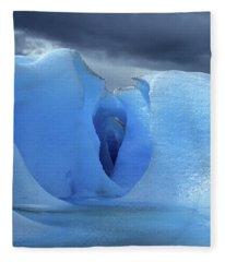 Entrance To The Icy Underworld Fleece Blanket