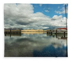 Entry To Flathead Lake Fleece Blanket