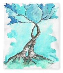 Entwined Trees Fleece Blanket