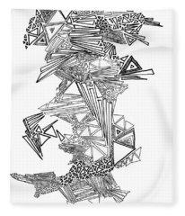 Epitaxy Ink Drawing By Regina Valluzzi Fleece Blanket
