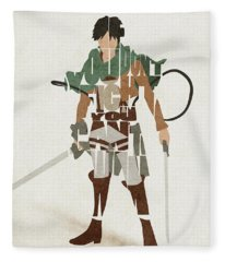 Eren Jaeger Typography Art Fleece Blanket