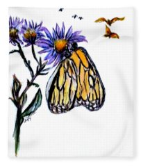 Erika's Butterfly One Fleece Blanket