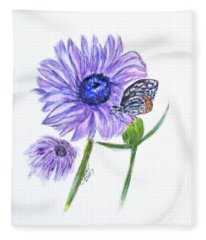 Erika's Butterfly Three Fleece Blanket