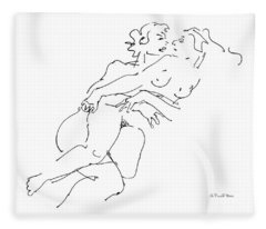 Erotic Art Drawings 13 Fleece Blanket