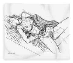 Erotic Art Drawings 7 Fleece Blanket