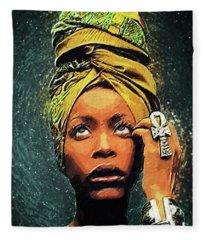 Erykah Badu Fleece Blanket