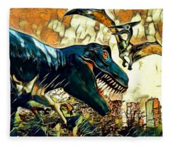 Escape From Jurassic Park Fleece Blanket