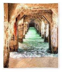 Escape To Atlantis Fleece Blanket