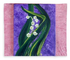 Escaping Winter Lilly Of The Valley Fleece Blanket