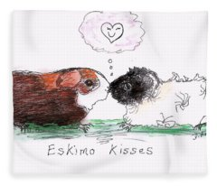 Eskimo Kisses Fleece Blanket