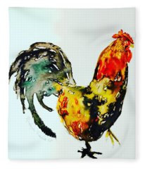 Essence Of Rooster Fleece Blanket