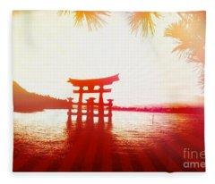 Eternal Japan Fleece Blanket