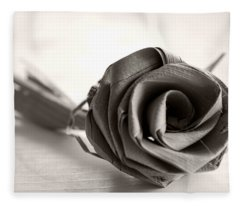 Eternal Rose In Sepia Fleece Blanket