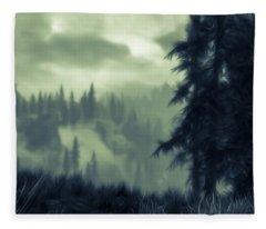 Eternal Shadow Falls  Fleece Blanket