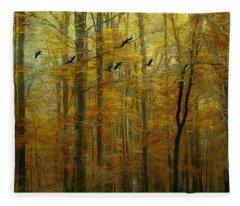Ethereal Autumn Fleece Blanket