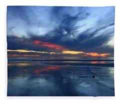 Ethereal Beach Blues Fleece Blanket