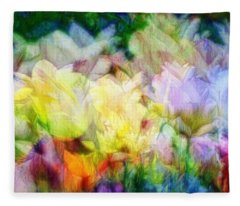 Ethereal Flowers Fleece Blanket