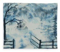 Ethereal Morning  Fleece Blanket