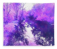 Ethereal Water Color Blossom Fleece Blanket