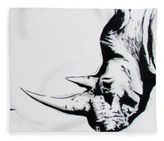 Ethnic Rhino Fleece Blanket
