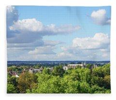 Eton College From Windsor Castle Fleece Blanket
