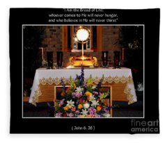Eucharist I Am The Bread Of Life Fleece Blanket