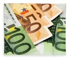 Euro Banknotes Fleece Blanket