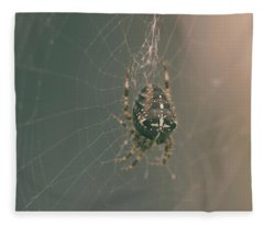 European Garden Spider B Fleece Blanket