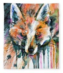 European Red Fox Fleece Blanket