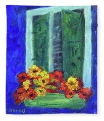European Window Box Fleece Blanket