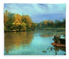 Evans Pond Fleece Blanket