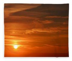 Evening Abstract 5 Fleece Blanket