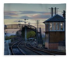 Evening At Bo'ness Station Fleece Blanket