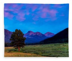 Evening At Christmas Meadows Fleece Blanket