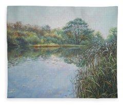 Evening At Southampton Common Lake Fleece Blanket