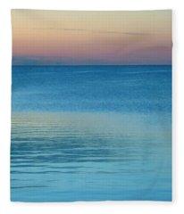 Evening At The Lake Fleece Blanket