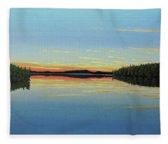 Evening Calm Fleece Blanket