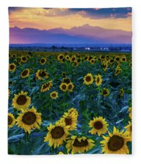 Evening Colors Of Summer Fleece Blanket