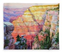 Evening Colors  Fleece Blanket
