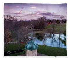 Evening Dove Fleece Blanket