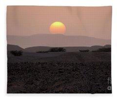 Evening Falls On The Prairie Fleece Blanket
