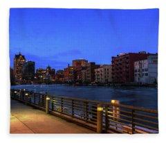Evening In Historic Third Ward Fleece Blanket