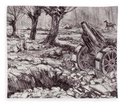 Evening In The Valley Of The Shadow Of Fleece Blanket