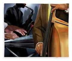 Evening Jazz Crowd Pleaser Fleece Blanket