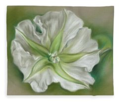 Evening Moonflower Fleece Blanket