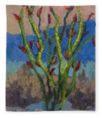 Evening Ocotillo Fleece Blanket